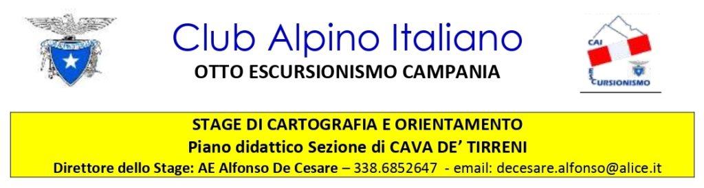 Stage di Cartografia e Orientamento per le sezioni di Avellino e Cava